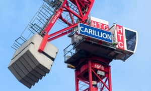 A crane bearing the logo of Carillion
