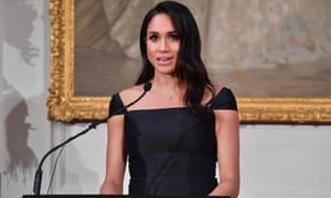 The Duchess of Sussex speaks at Government House in Wellington, New Zealand.