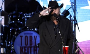 """Toby Keith performs at a pre-Inaugural """"Make America Great Again! Welcome Celebration""""."""
