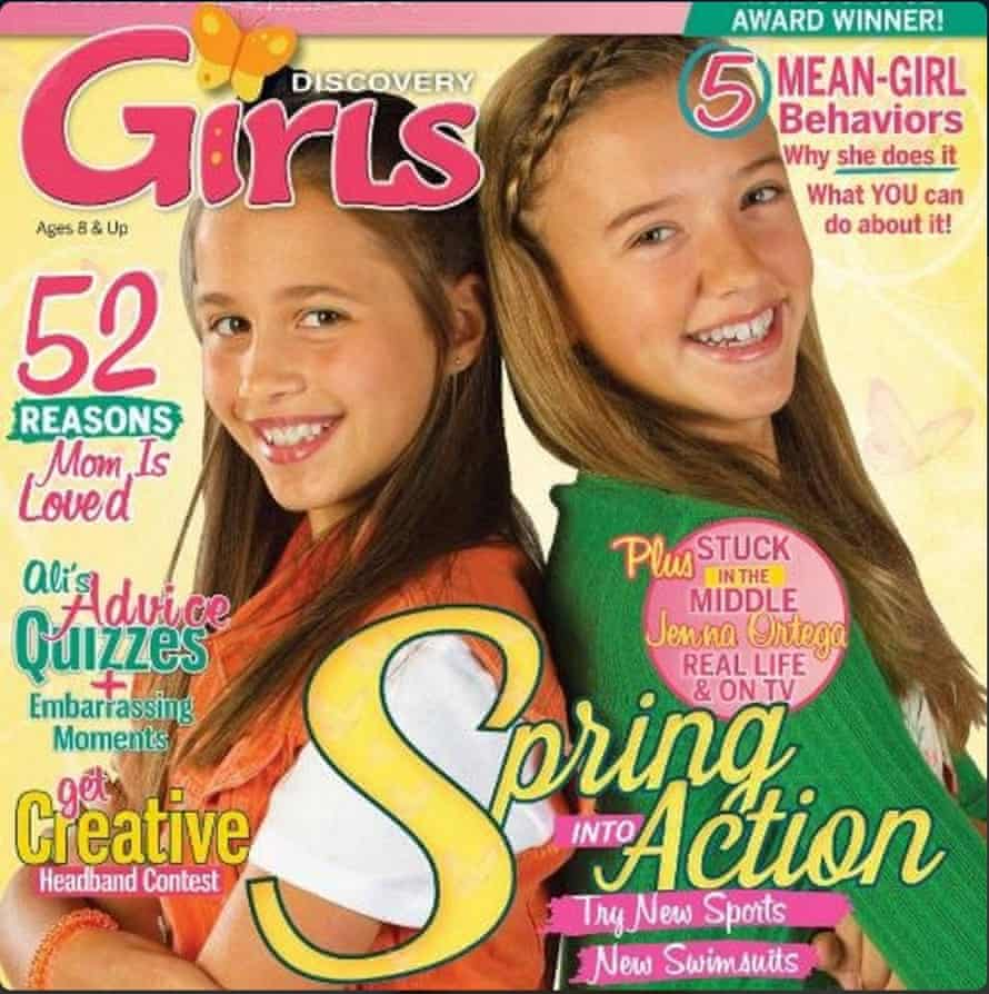 Discovery Girls, a US magazine aimed at girls aged 8-12, has come under fire for an article in which it advises young girls how to choose swimsuits that flatter their body shapes.