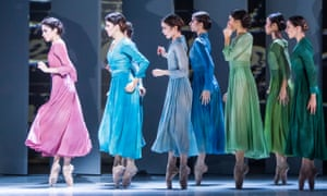 Yasmine Naghdi (far left) in The Unknown Soldier from The Triple Bill by The Royal Ballet @ Royal Opera House.
