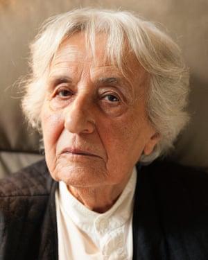 Holocaust survivor Anita Lasker-Wallfisch, aged 95, the former cellist of the Auschwitz women's orchestra.