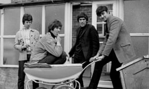 The Spencer David Group in 1966, with Davis in pram.