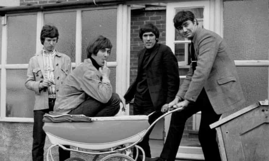 The Spencer David Group in 1966, with Davis in pram.