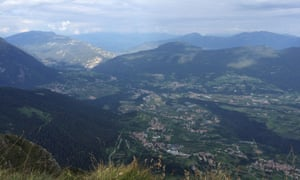The past is a different country: the view from the top of Cima Sera.