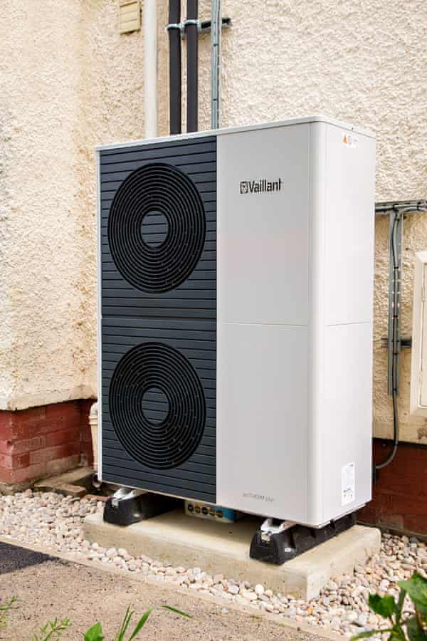 Picture of a large external freestanding unit with fans on the front, munted on a solid base, looking very similar to an air conditioning unit