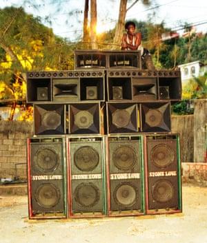 A Jamaican sound system.