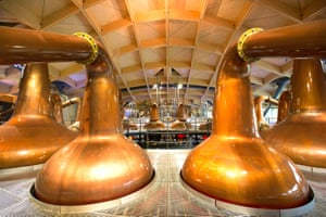 Inside the Macallan distillery.