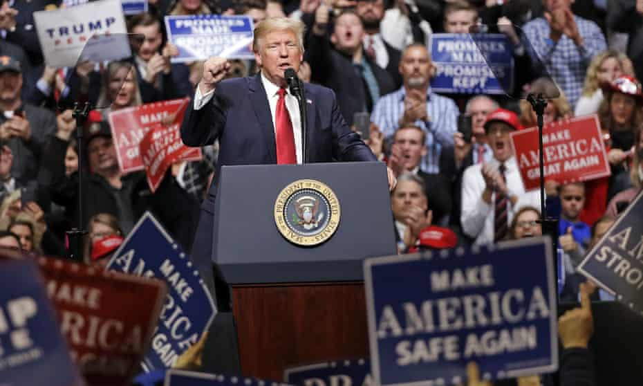'Some flaws in his basic literacy': Donald Trump at a rally in Nashville