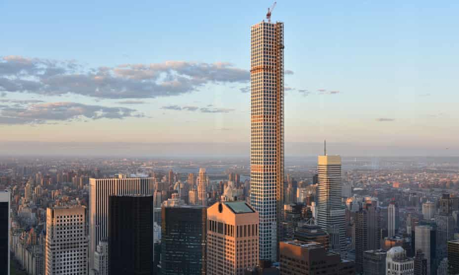 The supertall 432 Park Avenue in New York. 'I don't necessarily want to put a Freudian spin on that – but people have,' one architect observed.