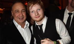 Len Blavatnik and Ed Sheeran