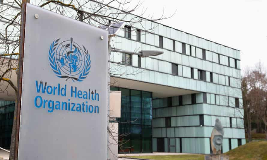 The World Health Organization building in Geneva.
