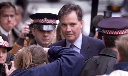 Jonathan Aitken arriving at the Old Bailey to be sentenced for perjury in June 1999.