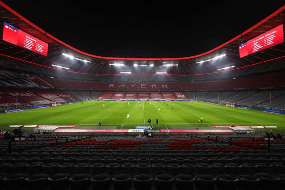 A view of the action at the Allianz Arena.
