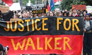 Justice rally for Kumanjayi Walker in Melbourne on Wednesday.