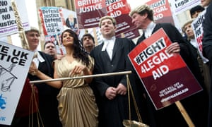 Lawyers protest against legal aid cuts in 2014