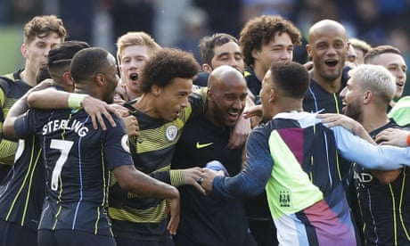 Manchester City pip Liverpool to Premier League title after win at Brighton