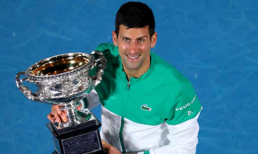 Djokovic made it 19 major titles with victory at the Australian Open this year.