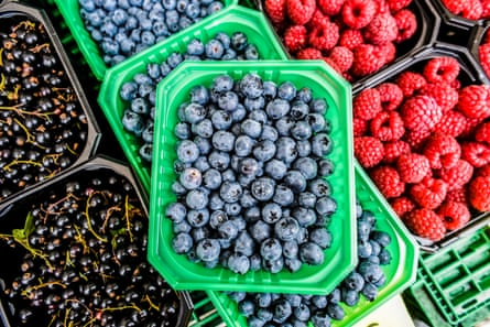 Blueberries on top - sales have overtaken strawberries.