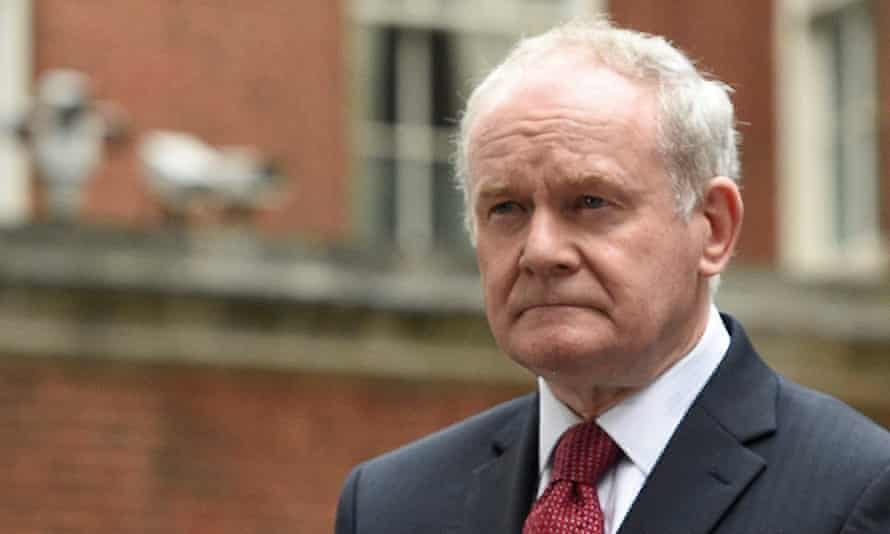 Martin McGuinness, who stepped down this week.