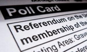 EU referendum polling card.