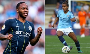 Raheem Sterling and Nikita Parris, Manchester City players who won the FWA 2019 awards