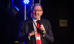 Len McCluskey speaks at an event at the Labour party conference, September 2017.