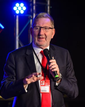 Len McCluskey at the Brighton conference.