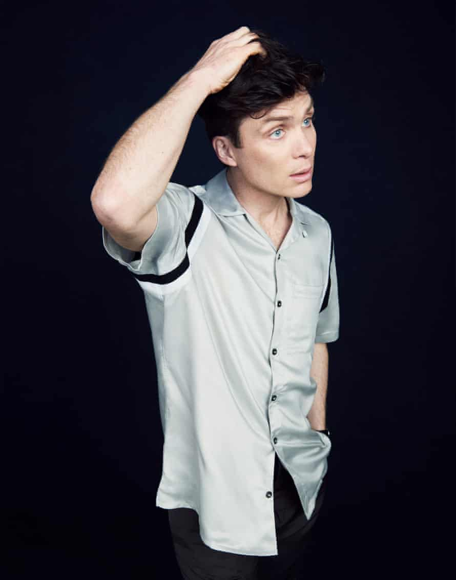Cillian Murphy in Lanvin T-shirt and Paul Smith trousers