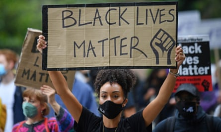 A Black Lives Matter protest march on 30 August in London.