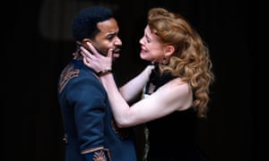 Fatal submissiveness … André Holland as Othello and Jessica Warbeck as Desdemona.