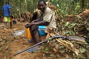 A Bilo poacher with his gun