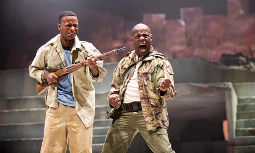 A cast of colour … Simon Manyonda and Paterson Joseph in Julius Caesar in 2012.
