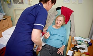Patient Doris Carpenter being cared for at Rochdale infirmary, which has reduced its bed count to just 15.