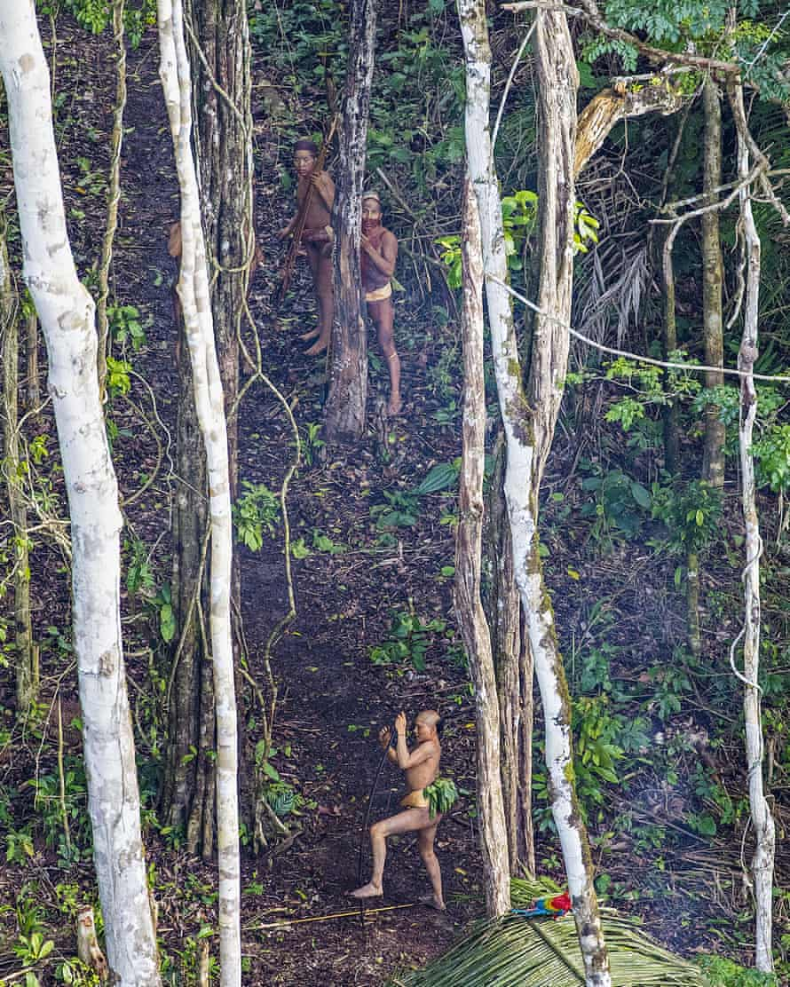 A tribe in the Amazon rainforest.