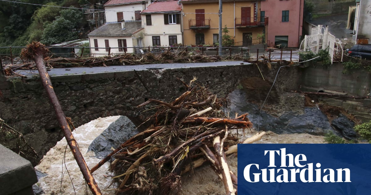 Record rainfall in Italy as extreme weather lashes country – video