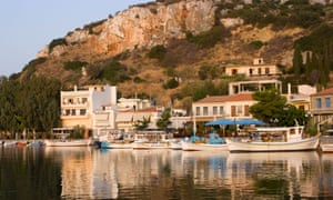 The Fishing Harbour and Town of Aliverion on the Isle of Evia