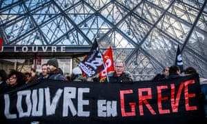 The Louvre was shut down by workers on Friday.