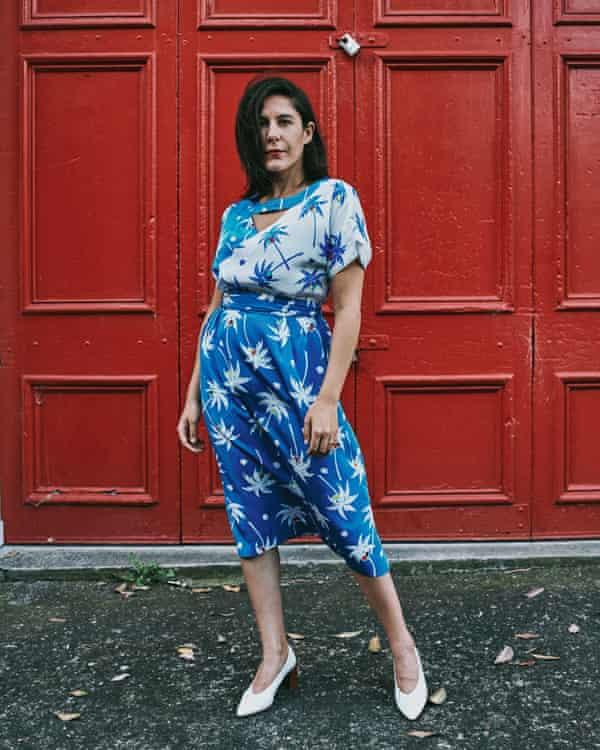 Jan Fran's silk skirt-and-top combo