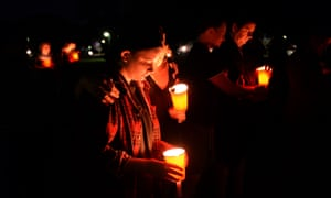 People attend a vigil for murdered woman Mayang Prasetyo in Brisbane on 10 October, 2014.
