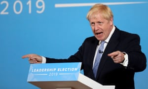 Boris Johnson at a Conservative party hustings event.
