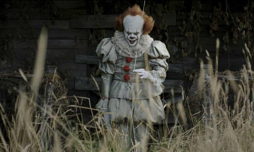 Bill Skarsgard as Pennywise in a scene from the movie.
