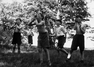 Boys playing on Wimbledon Common in 1957