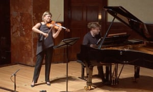 Complementary match ... Alina Ibragimova, with Kristian Bezuidenhout at the piano.