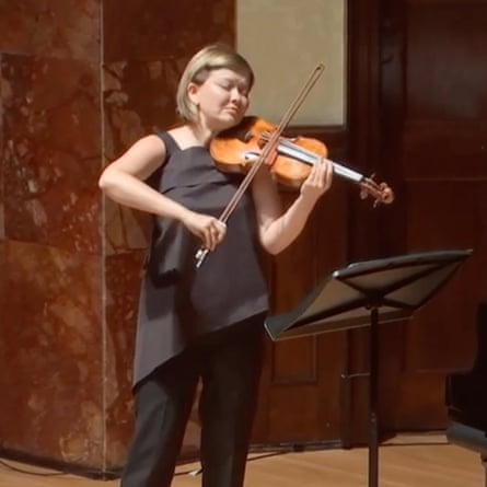 Alina Ibragimova in a live-streamed concert at the Wigmore Hall earlier this year