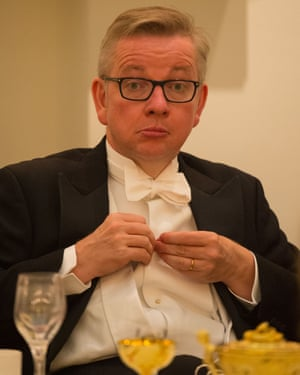 Michael Gove at a white-tie dinner