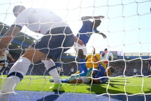Wilfred Ndidi (pictured) 'scored' one of two disallowed goals against Tottenham at the King Power Stadium in a game affected by VAR controversy. While Ndidi's scrappy effort was chalked off for an obvious offside, Tottenham's was expunged after the tightest offside decision imaginable as Son Heung-min was judged to have been millimetres offside before Serge Aurier found the net. City ultimately beat Spurs courtesy of a late winner from James Maddison. Final score: 2-1