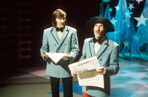 Barry Chuckle (right) in a Chuckle Brothers appearance on New Faces in 1974