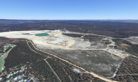 The current disused mining site in Anglesea, Victoria.