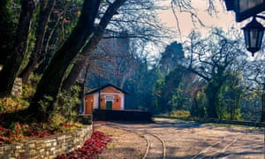 The old train station at Milies village, near Volos.